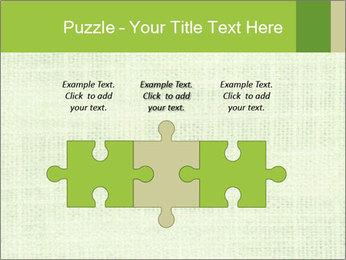 Green linen texture PowerPoint Templates - Slide 42