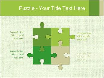 Green linen texture PowerPoint Templates - Slide 43