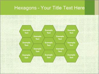 Green linen texture PowerPoint Templates - Slide 44