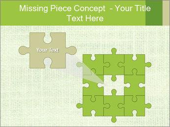Green linen texture PowerPoint Templates - Slide 45