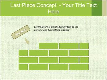 Green linen texture PowerPoint Templates - Slide 46
