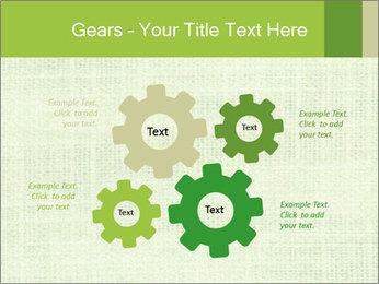 Green linen texture PowerPoint Templates - Slide 47