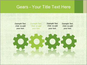 Green linen texture PowerPoint Templates - Slide 48