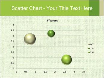 Green linen texture PowerPoint Templates - Slide 49