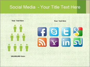 Green linen texture PowerPoint Templates - Slide 5
