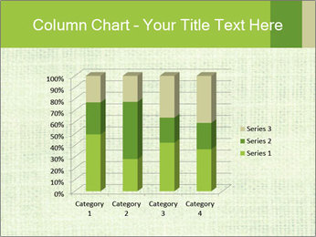 Green linen texture PowerPoint Templates - Slide 50