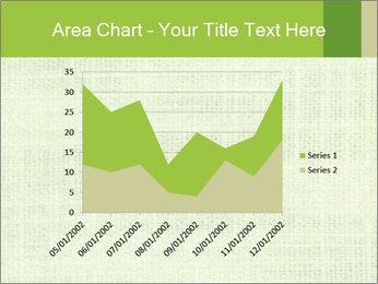 Green linen texture PowerPoint Templates - Slide 53