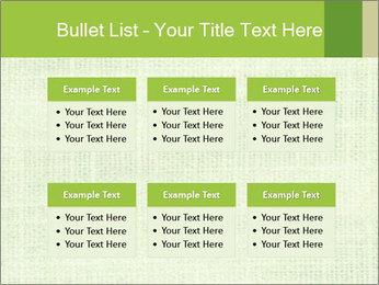 Green linen texture PowerPoint Templates - Slide 56