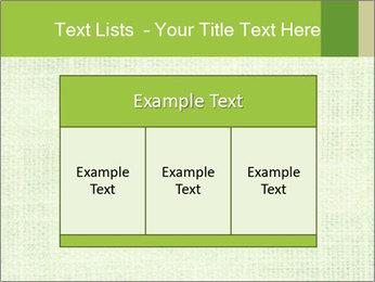 Green linen texture PowerPoint Templates - Slide 59