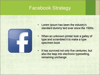 Green linen texture PowerPoint Templates - Slide 6