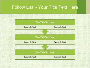 Green linen texture PowerPoint Templates - Slide 60