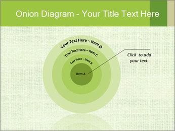 Green linen texture PowerPoint Templates - Slide 61