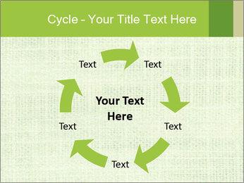 Green linen texture PowerPoint Templates - Slide 62