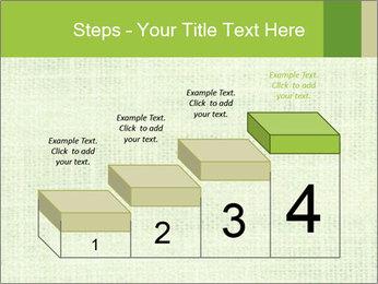 Green linen texture PowerPoint Templates - Slide 64