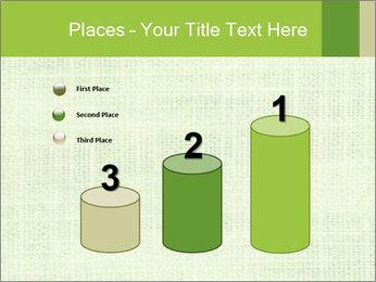 Green linen texture PowerPoint Templates - Slide 65