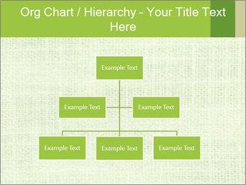 Green linen texture PowerPoint Templates - Slide 66