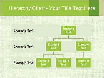 Green linen texture PowerPoint Templates - Slide 67
