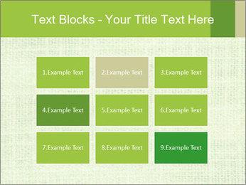 Green linen texture PowerPoint Templates - Slide 68