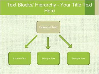 Green linen texture PowerPoint Templates - Slide 69