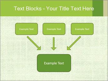 Green linen texture PowerPoint Templates - Slide 70