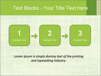 Green linen texture PowerPoint Templates - Slide 71