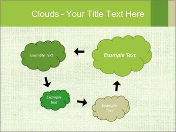 Green linen texture PowerPoint Templates - Slide 72