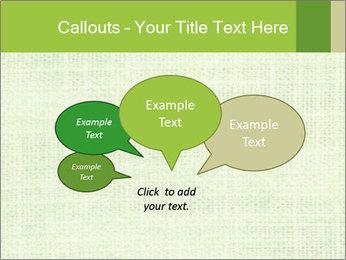 Green linen texture PowerPoint Templates - Slide 73