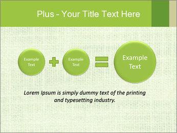 Green linen texture PowerPoint Templates - Slide 75