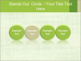 Green linen texture PowerPoint Templates - Slide 76