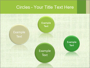 Green linen texture PowerPoint Templates - Slide 77