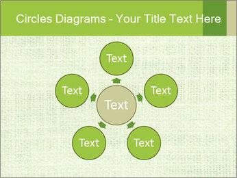 Green linen texture PowerPoint Templates - Slide 78