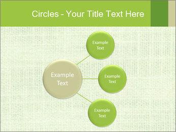 Green linen texture PowerPoint Templates - Slide 79