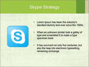 Green linen texture PowerPoint Templates - Slide 8
