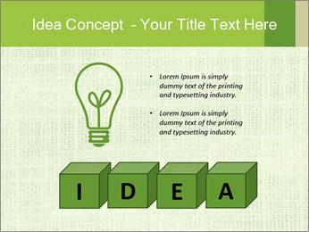 Green linen texture PowerPoint Templates - Slide 80