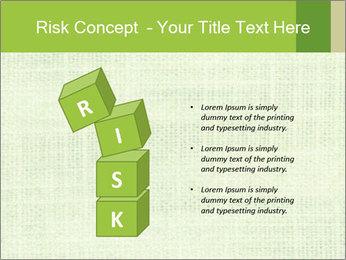Green linen texture PowerPoint Templates - Slide 81
