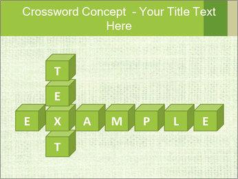 Green linen texture PowerPoint Templates - Slide 82