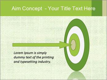 Green linen texture PowerPoint Templates - Slide 83