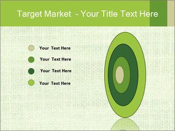 Green linen texture PowerPoint Templates - Slide 84
