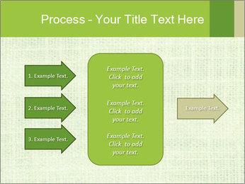 Green linen texture PowerPoint Templates - Slide 85