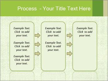 Green linen texture PowerPoint Templates - Slide 86