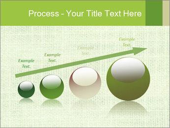 Green linen texture PowerPoint Templates - Slide 87
