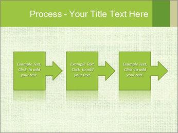 Green linen texture PowerPoint Templates - Slide 88