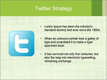 Green linen texture PowerPoint Templates - Slide 9