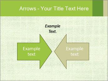 Green linen texture PowerPoint Templates - Slide 90