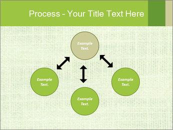 Green linen texture PowerPoint Templates - Slide 91
