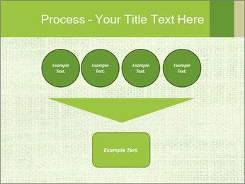 Green linen texture PowerPoint Templates - Slide 93