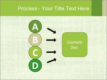 Green linen texture PowerPoint Templates - Slide 94