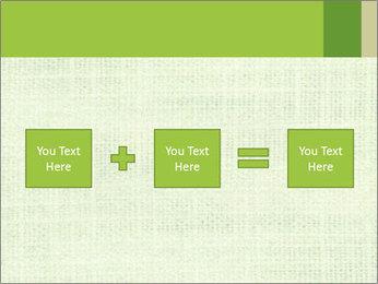 Green linen texture PowerPoint Templates - Slide 95