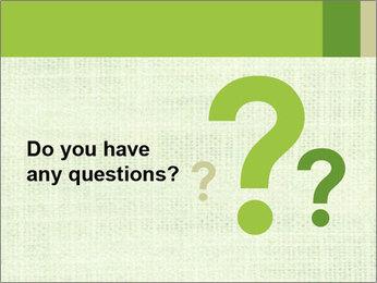 Green linen texture PowerPoint Templates - Slide 96