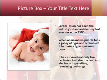 Christmas teddy bear with gifts PowerPoint Template - Slide 13